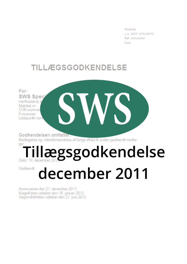 PDF SWS Tillægsgodkendelse dec 2011