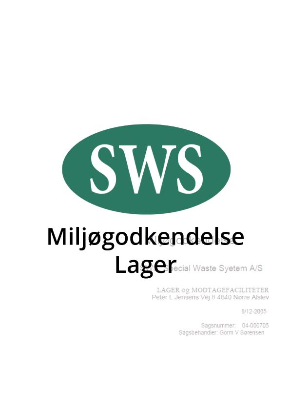 PDF SWS Miljøgodkendelse lager